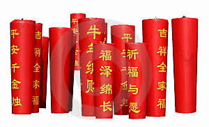 Red Candles For Best Wishes Royalty Free Stock Photo - Image: 8058495