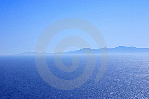 Mountain Range At The Coast In Blue Tones Stock Photo - Image: 8059080