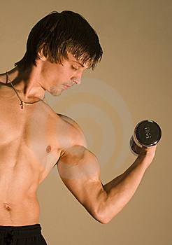 Training Of The Bodybuilder Stock Photos