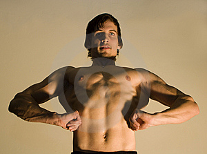 Pose Of Bodybuilder Royalty Free Stock Photos - Image: 8059358