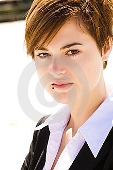 Pierced Businesswoman Stock Photos - Image: 8060173