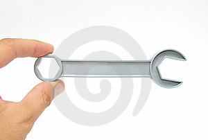 Tool In Fingers Stock Photos - Image: 8060813