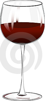 Wineglass With Red Wine Stock Photo - Image: 8060820
