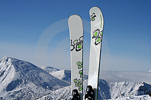 Skiings Royalty Free Stock Photography - Image: 8061087