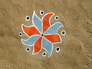 Handmade Tribal Art Royalty Free Stock Photography - Image: 8061197