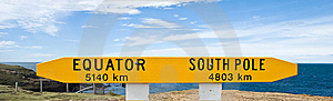 Equator/South Pole Stock Photography - Image: 8063222