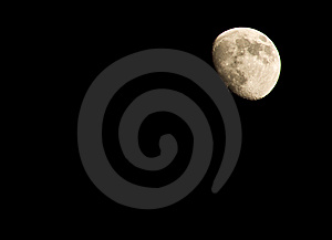 Moon In The Sky Stock Image - Image: 8064041