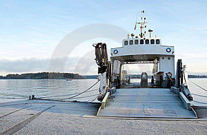 Small Ferryboat Moored At Quay Royalty Free Stock Photo - Image: 8064635
