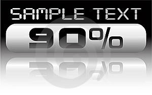 Vector Metal Percent Banner Royalty Free Stock Photos - Image: 8066568
