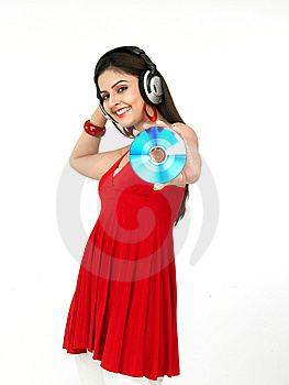 Woman Enjoying Music Royalty Free Stock Photo - Image: 8067415