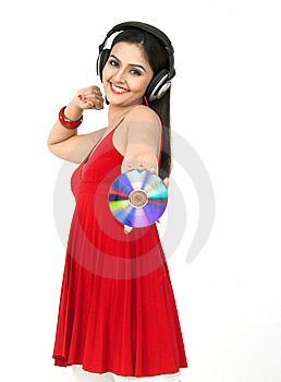 Woman Enjoying Music Royalty Free Stock Photos - Image: 8067448