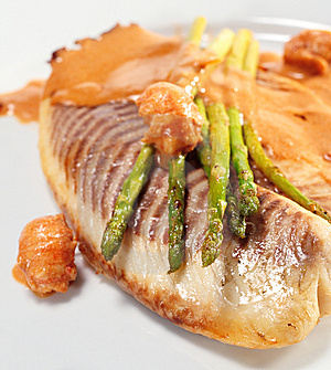 Sea Bass Fillet Royalty Free Stock Images - Image: 8068469