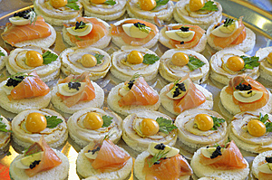 Canape On A Tray. Royalty Free Stock Photos - Image: 8069698