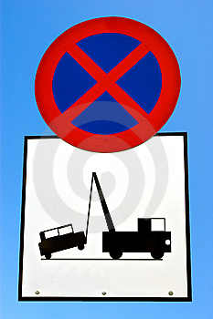 No Stopping Sign. Royalty Free Stock Photos - Image: 8070908