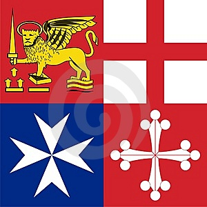 Naval Jack Of Italy Stock Photo - Image: 8070910