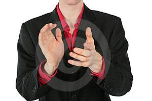 Applauding Person Stock Photos - Image: 8071573