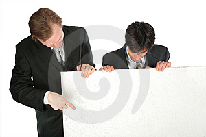 Two Businessmen With White Plate Stock Photos - Image: 8071613