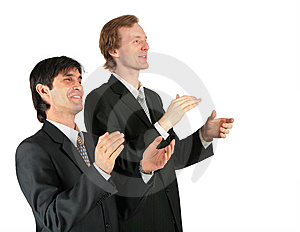 Two Applauding Businessmen Stock Images - Image: 8071824