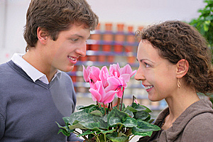 Pair In Flower Shop Stock Images - Image: 8072874