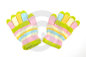 Striped Mitten Stock Images - Image: 8073524
