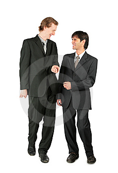 Two Friendly Businessmen Royalty Free Stock Images - Image: 8074989