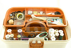 Sewing Box Royalty Free Stock Photos - Image: 8075458