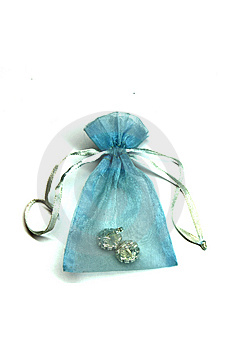 Treasure In A Blue Pouch Stock Image - Image: 8075991