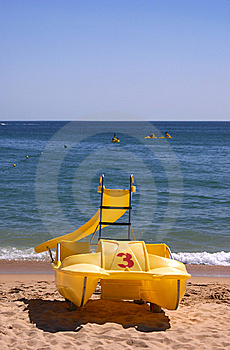 Pedalboat On The Beach Royalty Free Stock Photography - Image: 8076557