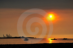 Sunset At Dan Shui Royalty Free Stock Images - Image: 8076829