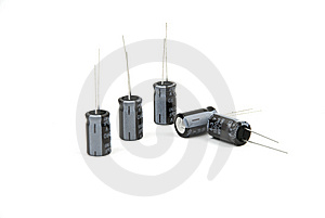 Electrolytic Capacitors Stock Photo - Image: 8077080