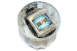 Waterproof Watch In Glass With Water. Royalty Free Stock Image - Image: 8077246