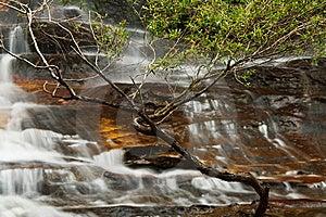 Beautiful Misty Waterfall Stock Image - Image: 8077391