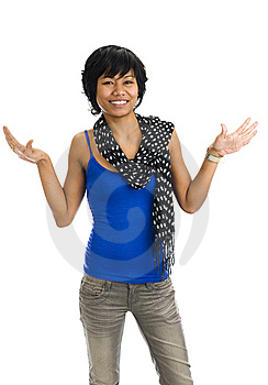 Asian Pretending To Have Wings Royalty Free Stock Photo - Image: 8078575