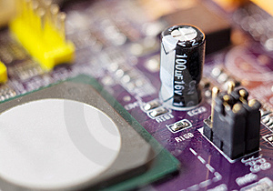 Computer Motherboard Closeup Photo Stock Photos - Image: 8078953