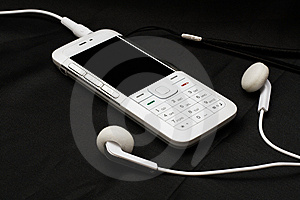 White Mobile Phone Stock Images - Image: 8078954