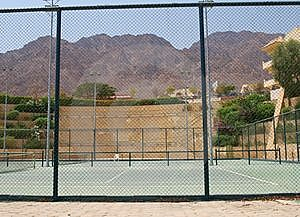 Tennis Courts On Territory Of Hotel Stock Photos - Image: 8079463
