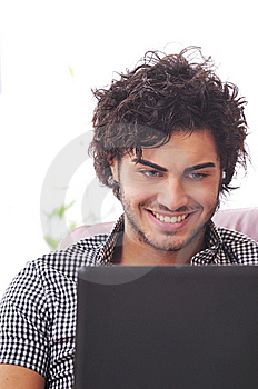 Happy Shopping Online Stock Photos - Image: 8079513