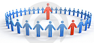 Circle of People Stock Photography