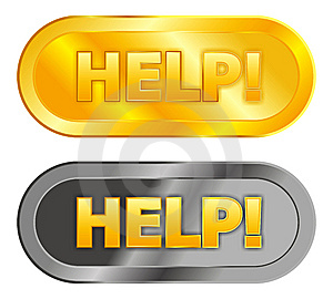 Help Buttons Royalty Free Stock Image - Image: 8083956