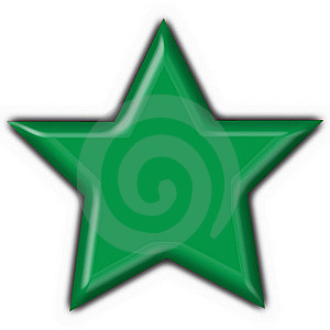 Lybia Button Flag Star Shape Stock Image - Image: 8087321