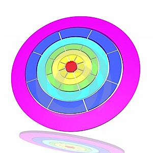 Target From A Rainbow Stock Image - Image: 8087361