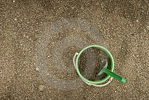 Green Sand Bucket Royalty Free Stock Photo - Image: 8087755