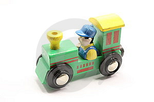 Green Toy Train Stock Photo - Image: 8088790