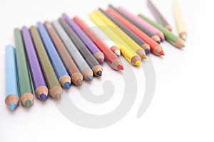 Coloured Pencils With Copyspace Royalty Free Stock Photography - Image: 8088847
