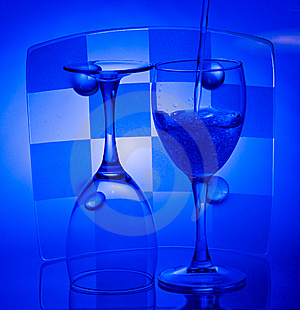 Glasses With Water Royalty Free Stock Image - Image: 8089086