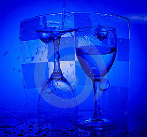 Glasses With Water Stock Images - Image: 8089094