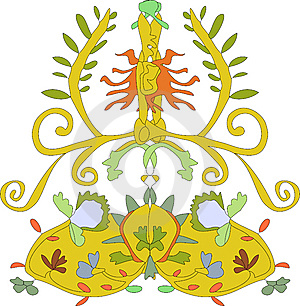 Floral Crest Royalty Free Stock Images - Image: 8089479