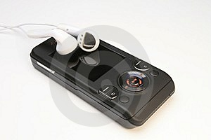 Cell Phone MP3 Player Royalty Free Stock Images - Image: 8089819