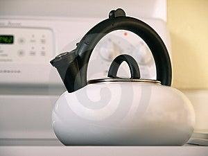 White Tea Kettle Stock Image - Image: 8090331