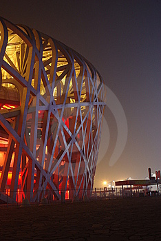 Night Scenes Of National Stadium-the Nest Royalty Free Stock Photos - Image: 8090778